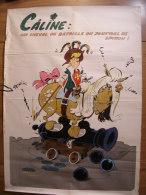 BD - POSTER SPIROU 1972 - CÂLINE - 60x43cm - Spirou Magazine
