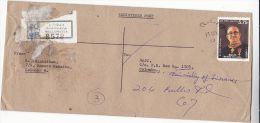 Registered 1988 WELLAWATTA SRI LANKA  LX Pereira Stamps COVER REDIRECTED - Sri Lanka (Ceylon) (1948-...)