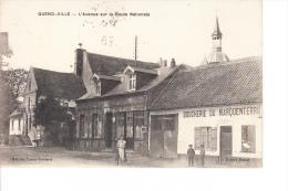 80 SOMME QUEND VILLE - L´avenue Sur La Route Nationale (commerce Boucherie Du Marquenterre  - Poste ) - Quend