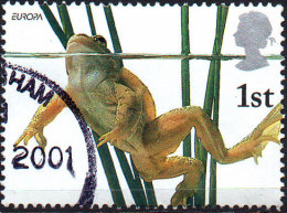 GREAT BRITAIN 2001 Pond Life: 1st Class NVI Common Frog - Used Stamps