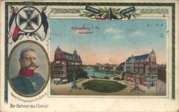 Erster Weltkrieg (WWI)  - Rußland (Russia) - Königsberg, Preußen (Kaliningrad) - Schloßplatz (with Hindenburg) (1916) - Ostpreussen