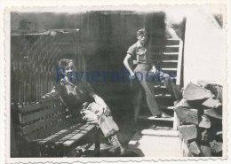 R50 - Militaires Francais - Gutach, Allemagne 1945 - 2 Photos Anciennes - Guerre, Militaire