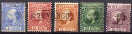 NETHERLANDS 1867 - Yv.7-11 Used (F-VF) - Periodo 1852 - 1890 (Guglielmo III)