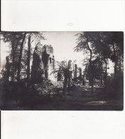 Carte Postale Photo Militaire Allemand YPERN-YPRES-LEPER (Belgique) Vue Sur Eglise En Ruine -VO IR 2 SCANS - - Ieper