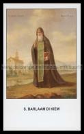 Xsa-12066 S. San BARLAAM DI KIEW KIEV UCRAINA Santino Holy Card - Religion & Esotericism