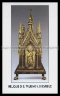 Xsa-12067 RELIQUIE DI S. San TAURINO VESCOVO DI EVREUX Santino Holy Card - Religion & Esotérisme