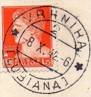 1942 FRAMMENTO - 1900-44 Vittorio Emanuele III