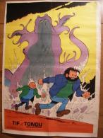 BD - POSTER SPIROU 1973 - TIF ET TONDU - 60x43cm - Spirou Magazine