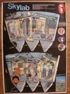 BD - POSTER SPIROU 1973 - SKYLAB - 77x55cm - Spirou Magazine