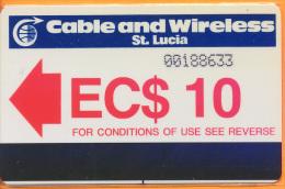 Saint Lucia - Autelca, Logo, 10EC$, 50.000ex, 1985, Used As Scan - Santa Lucía