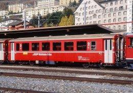 000.300) Dia (color Slide) Schweiz RhB - B 2314 Personenwagen - Treinen