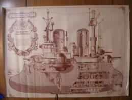 "BD - POSTER SPIROU 1972 - LES GRANDS PROJETS LE ""YAGHEDINE"" - 60x43cm - Spirou Magazine"