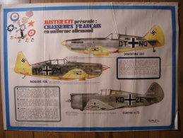 BD - POSTER SPIROU 1973 - MISTER KIT PRESENTE : LES CHASSEURS FRANCAIS EN UNIFORME ALLEMAND - 60x43cm - Spirou Magazine