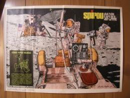 BD - POSTER SPIROU 1972 - LUNAR ROVER VEHICLE - 60x43cm - Spirou Magazine