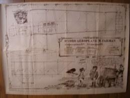BD - POSTER SPIROU 1972 - HYDRO-AEROPLANE M. FARMAN - 60x43cm - Posters