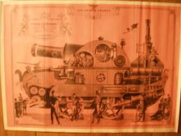 """BD - POSTER SPIROU 1972 - LES GRANDS PROJETS CHAR """"FIN DE LA GUERRE"""" - 60x43cm - Spirou Magazine"""