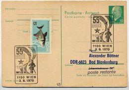 ESPERANTO-KONGRESS Wien 1970 Auf DDR P77A Antwort-Postkarte ZUDRUCK  BÖTTNER 4 - Esperanto