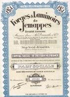 Action Ancienne - P S FORGES & LAMINOIRS DE JEMAPPES - Industrie