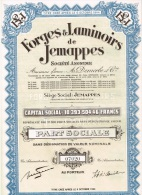 Action Ancienne - P S FORGES & LAMINOIRS DE JEMAPPES - N° 07020 - Industrie