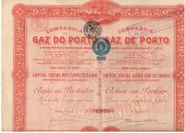 Action Ancienne - COMPANHIA DO GAZ DO PORTO COMPAGNIE DU GAZ DE PORTO - Elektriciteit En Gas