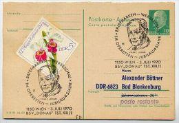 FRANZ LEHAR Vienna 1970 On East German Postal Card P77A Private Print Böttner #4 - Music