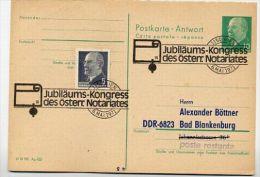 NOTARIATS-KONGRESS WIEN 1971 Auf DDR P77A Antwort-Postkarte ZUDRUCK BÖTTNER #4 - Wissenschaften