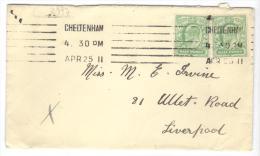 VER2997 - GRAN BRETAGNA , Da Cheltenham  AP 25 11 - Storia Postale