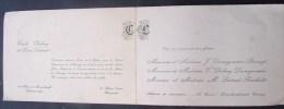 FPM. 1. Faire Part De Mariage De Cecile Delaey Et Léon Liétard à Quevaucamps En 1956 - Boda