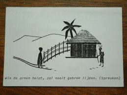 Wie De Armen Helpt, Zal Nooit Gebrek Lijden ( Spreuken ) Anno 1984 ( Zie Foto Voor Details ) !! - Missions