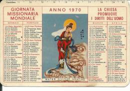 CAL155 - CALENDARIETTO 1970 - GIORNATA MISSIONARIA MONDIALE - Calendari