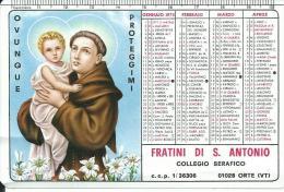CAL157 - CALENDARIETTO 1972 - FRATINI DI S. ANTONIO - Calendari