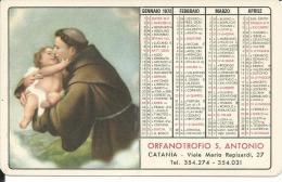 CAL158 - CALENDARIETTO 1972 - ORFANATROFIO S. ANTONIO - Calendari