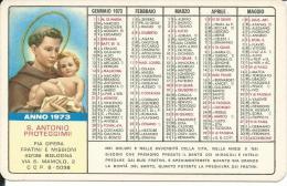 CAL160 - CALENDARIETTO 1973 - PIA OPERA FRATINI E MISSIONI - BOLOGNA - Calendari
