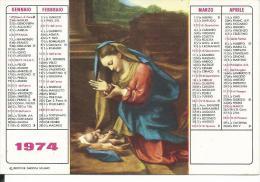 CAL161 - CALENDARIETTO 1974 - LIBRERIA ARTIGIANELLI - TRENTO - Calendari