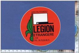 Autocollant - Légion étrangère - Bureau Recrutement De Lyon - Képi Blanc - Armée Militaria - Sticker - Autocollants