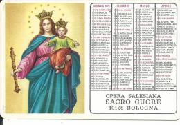 CAL167 - CALENDARIETTO 1976 - OPERA SALESIANA SACRO CUORE - BOLOGNA - Calendari