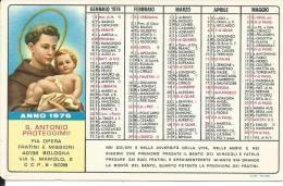 CAL166 - CALENDARIETTO 1976 - PIA OPERA FRATINI E MISSIONI - BOLOGNA - Calendari