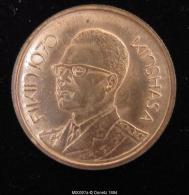 M00507 CONGO-Kinshasa, Fikin 1970, Portrait De Mobutu, Banque Nationale. 10 G - Jetons & Médailles