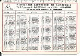 CAL168 - CALENDARIETTO 1977 - MISSIONARI CAPPUCCINI IN AMAZZONIA - Calendari