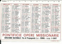 CAL172 - CALENDARIETTO 1978 - PONTIFICIE OPERE MISSIONARIE - ROMA - Calendari
