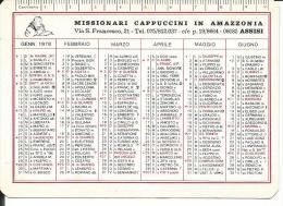 CAL174 - CALENDARIETTO 1978 - MISSIONARI CAPPUCCINI IN AMAZZONIA - ASSISI - Calendari