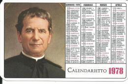 CAL175 - CALENDARIETTO 1978 - DON BOSCO - Calendari