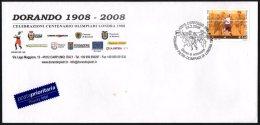 ATHLETICS / OLYMPIC - ITALIA CORREGGIO (RE) 2008 - DORANDO PIETRI - OLIMPIADI LONDRA 1908 - FDC - BUSTA UFFICIALE