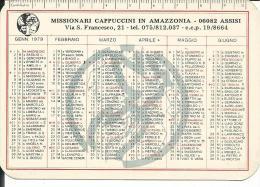 CAL178 - CALENDARIETTO 1979 - MISSIONARI CAPPUCCINI IN AMAZZONIA - ASSISI - Calendari