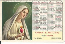 CAL179 - CALENDARIETTO 1979 - OPERA S. ANTONIO - ANDRIA - Calendari