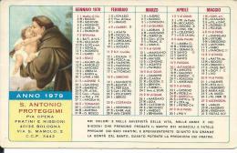 CAL180 - CALENDARIETTO 1979 - PIA OPERA FRATINI E MISSIONI - BOLOGNA - Calendari