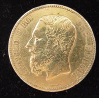 AG00536 5 F. Léopold II Monté En Broche Et Ag 24 G - 1865-1909: Leopold II