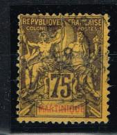 MARTINIQUE 1892 OBL Y&T 42 AMINCI - Martinica (1886-1947)