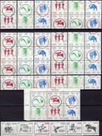 Olympiade 1964 DDR 1033/44,12xZD Senkrecht+ER-Block ** 200€ Springreiten Radrennen Volleyball Sport Se-tenant Of Germany - Zusammendrucke