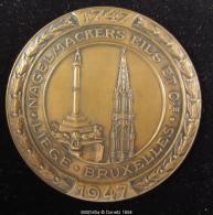 M00545 Banque Nagelmakers 1747-1947 Liège - Bruxelles Et écu Au Revers. 114 G - Belgium